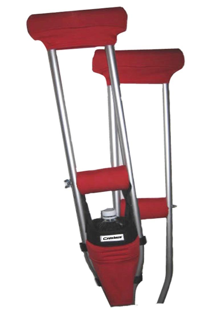 COMBO DEAL - ATOMIC RED  PADDED CRUTCH COVERS & BAG SET