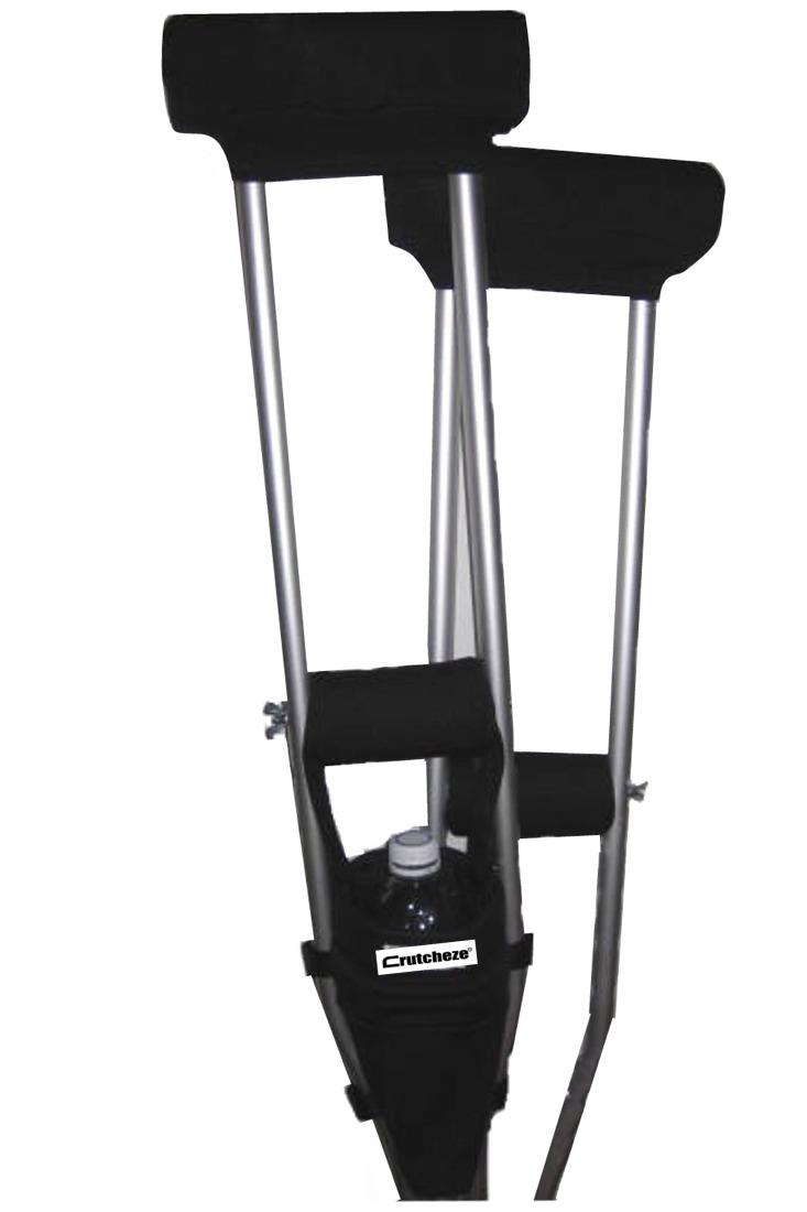 COMBO DEAL - BLACK PADDED CRUTCH COVERS & BAG SET