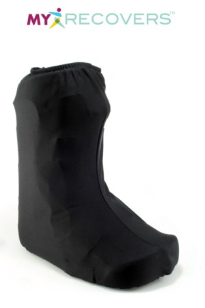 LOW TOP FASHION WALKING BOOT COVER - BLACK