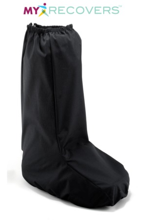 HIGH TOP WEATHERPROOF WALKING BOOT COVER - BLACK