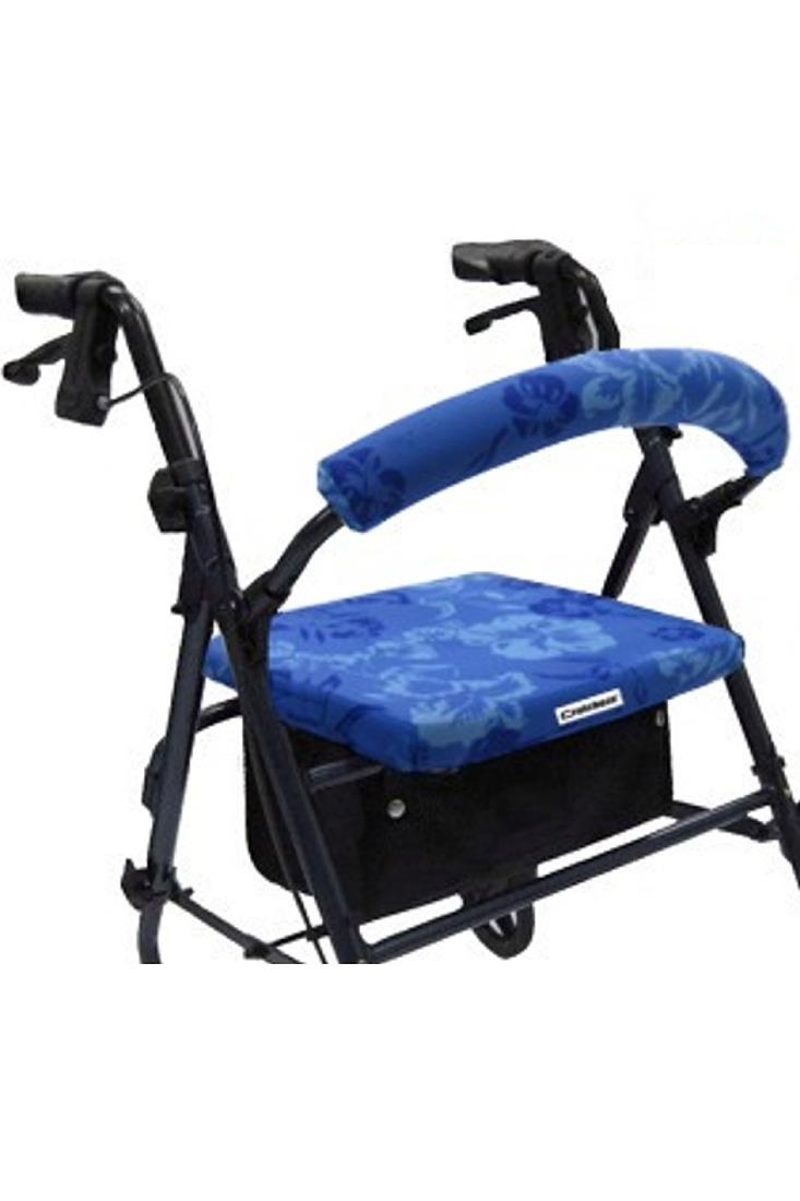 ROLLATOR WALKER COVERS - BLUE HAWAIIAN FLORAL