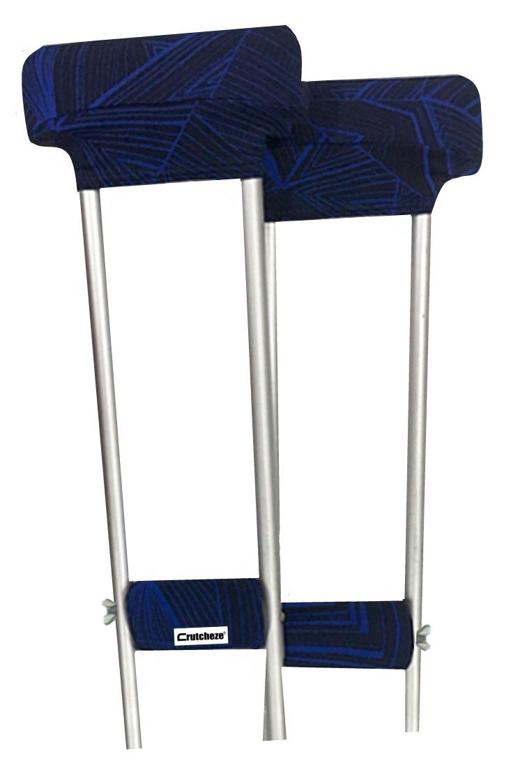 CRUTCH PADDED COVERS - BLUE VORTEX