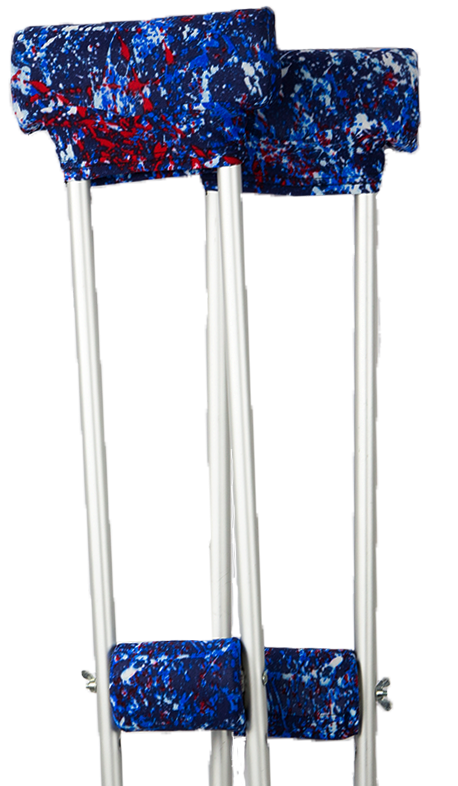 CRUTCH PADDED COVERS - BLUE PAINTBALL