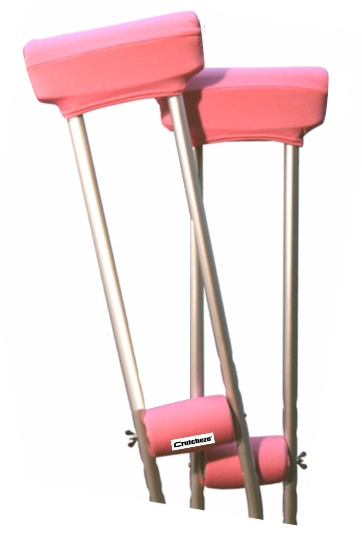 CLEARANCE CRUTCH PADDED COVERS - BUBBLEGUM PINK