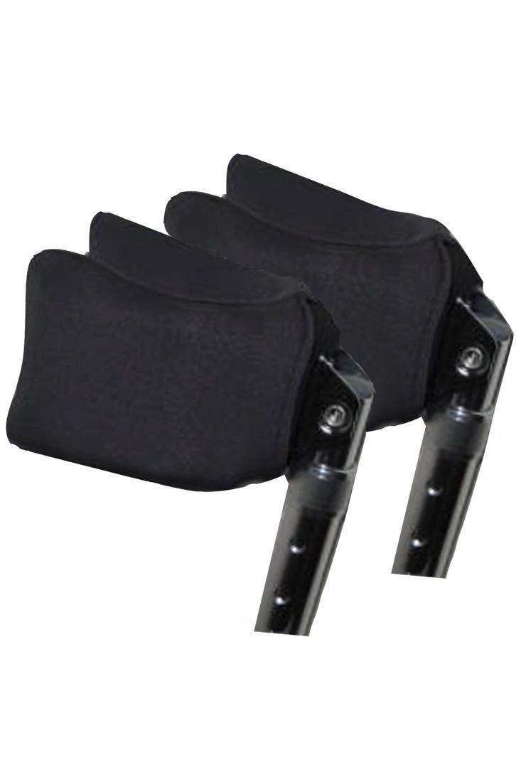 FOREARM CRUTCH PADS - CARBON GREY