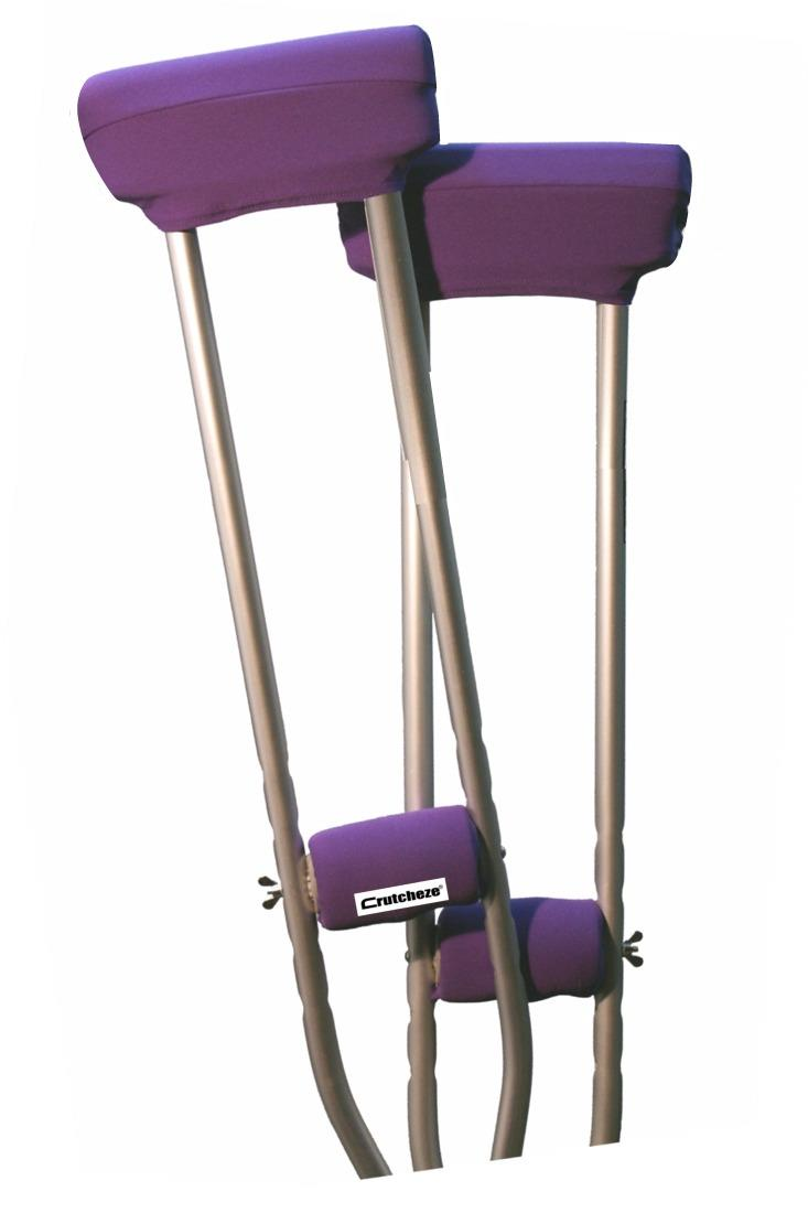 CRUTCH PADDED COVERS - DEEP PURPLE