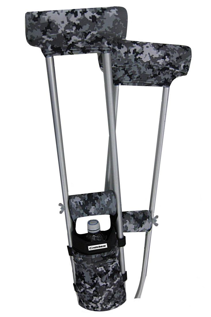 COMBO DEAL - DIGITAL SNOW CAMO PADDED CRUTCH COVERS & BAG SET