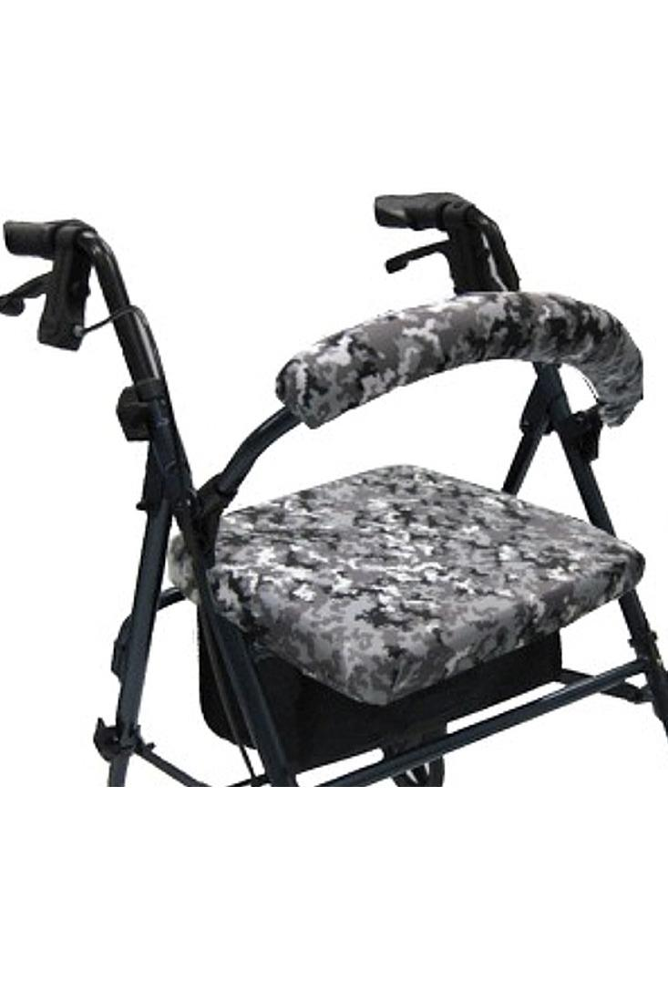 ROLLATOR WALKER COVERS - DIGITAL SNOW CAMO