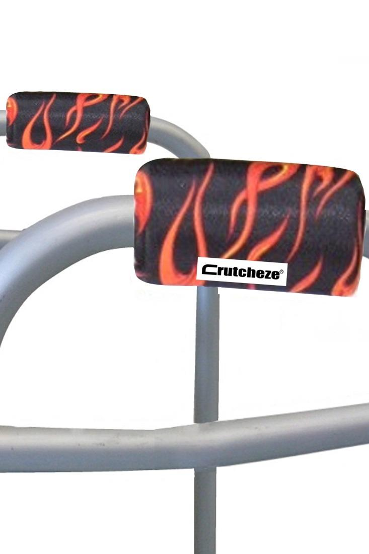 WALKER PADDED HANDGRIPS - FLAMES (pr)