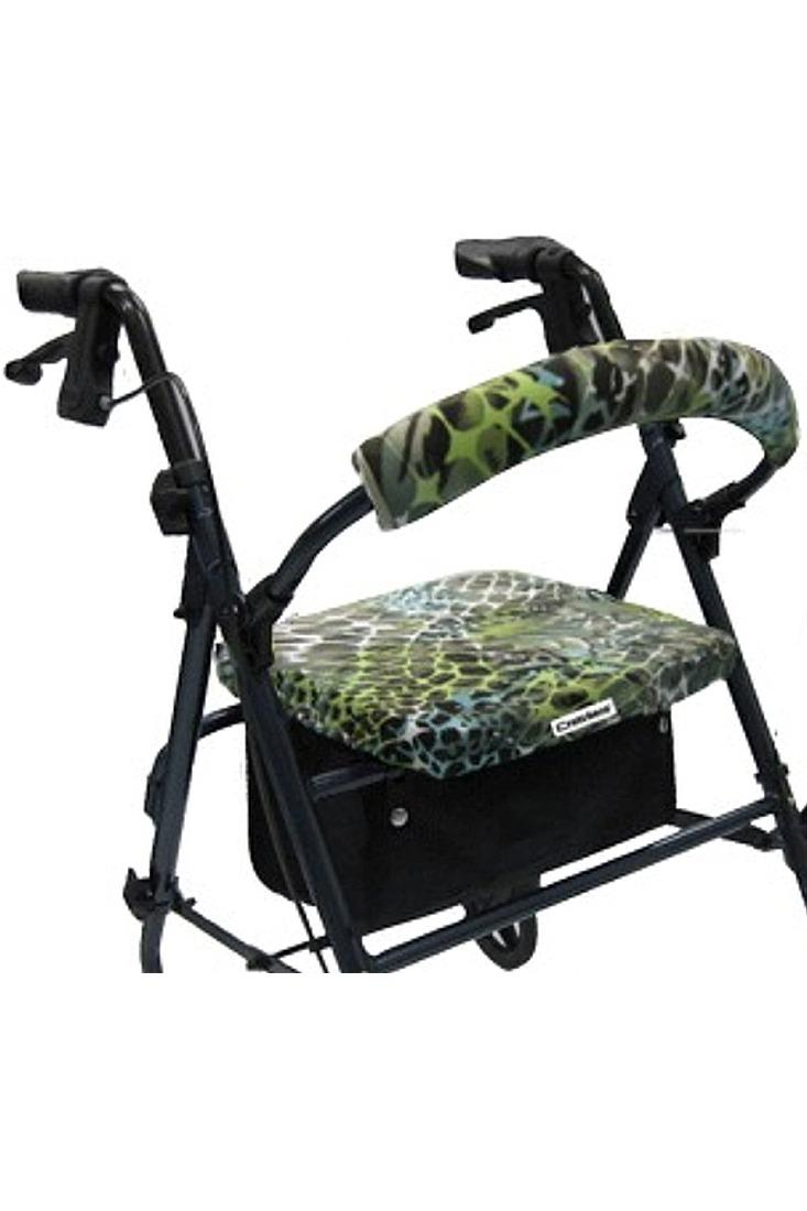 ROLLATOR WALKER COVERS - GREEN ANIMAL TANGO
