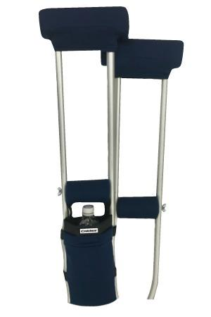 CLEARANCE COMBO DEAL - NAVY BLUE PADDED CRUTCH COVERS & BAG SET