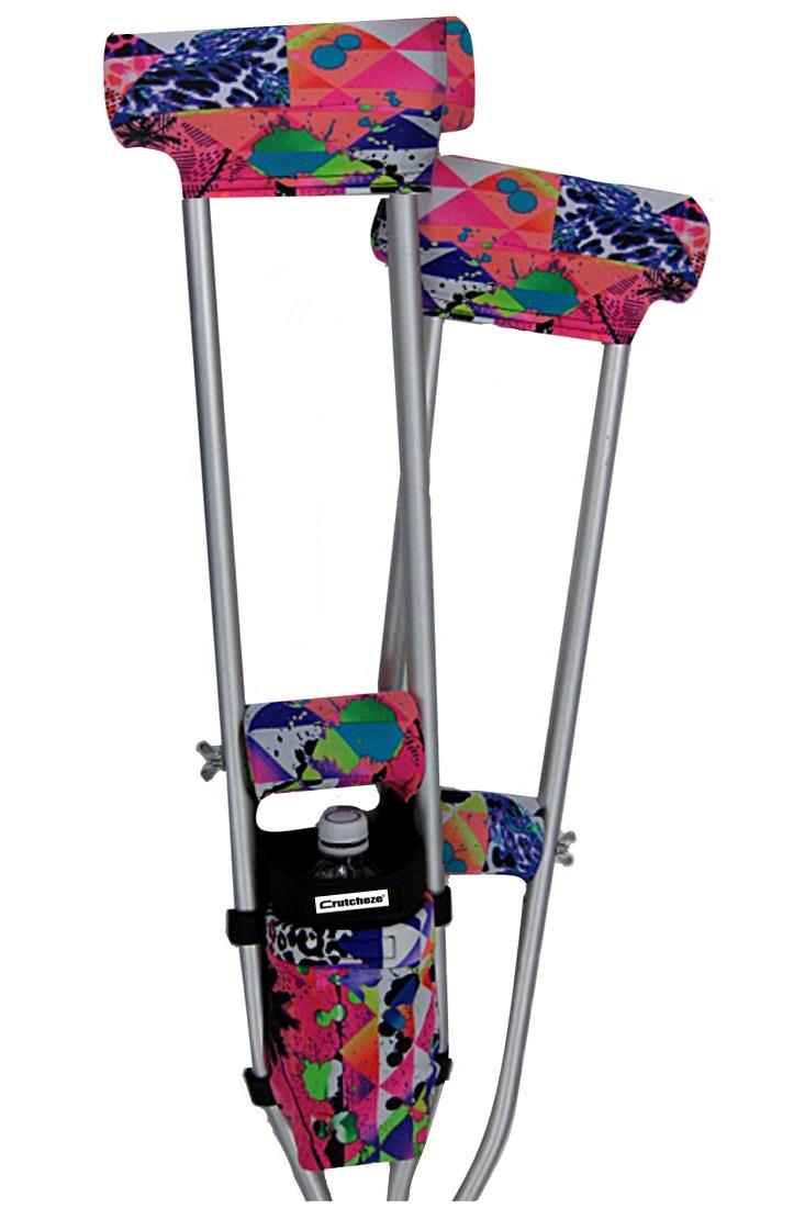 COMBO DEAL - NEON BEACH PADDED CRUTCH COVERS & BAG SET