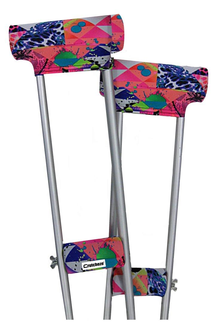 CRUTCH PADDED COVERS - NEON BEACH