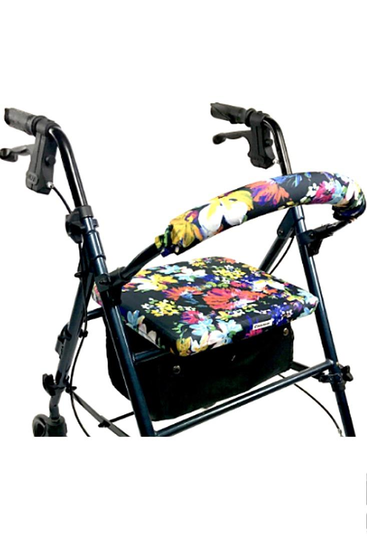 ROLLATOR WALKER COVERS - PAINTED FLOWERS