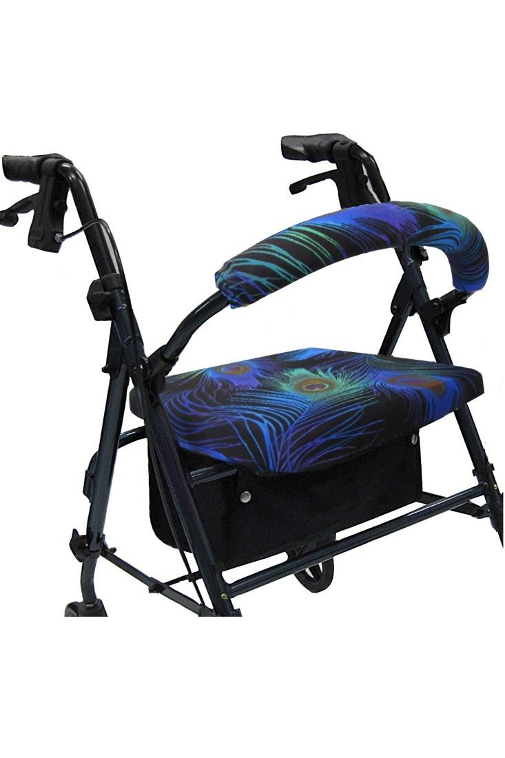 ROLLATOR WALKER COVERS - PEACOCK FEATHERS