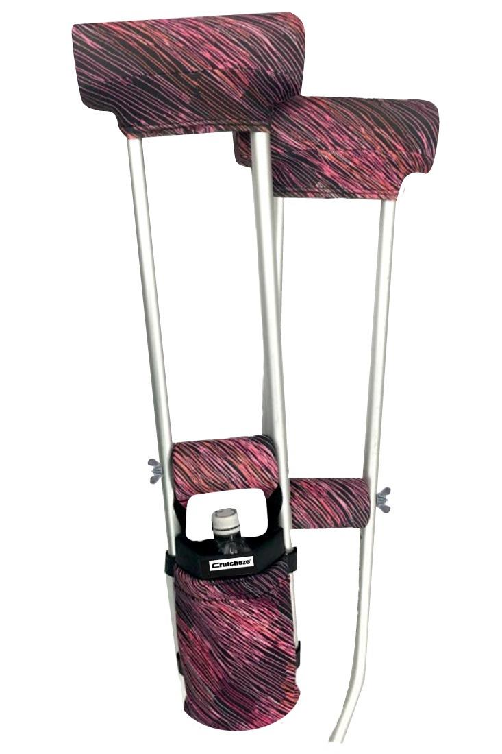 COMBO DEAL - PINK FUSION PADDED CRUTCH COVERS & BAG SET