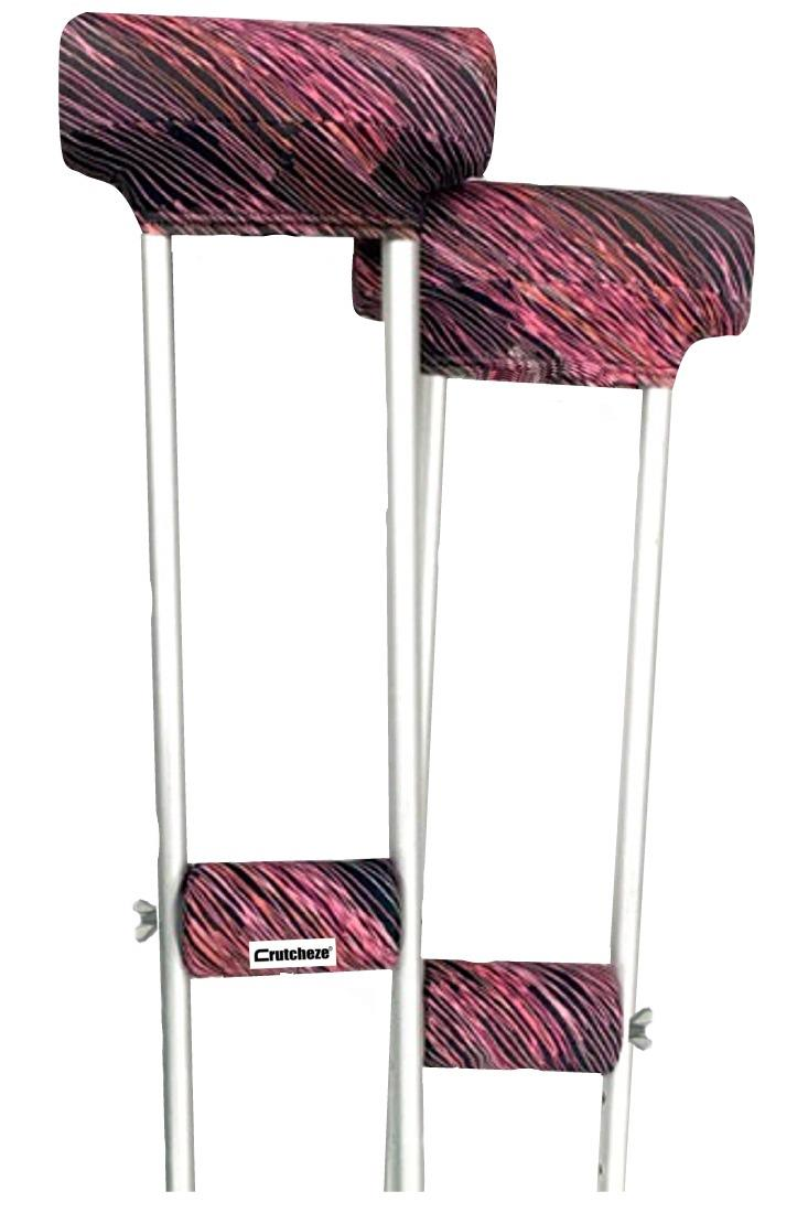 CRUTCH PADDED COVERS - PINK FUSION