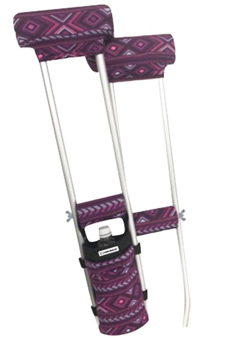 COMBO DEAL - PINK NATIVE PADDED CRUTCH COVERS & BAG SET
