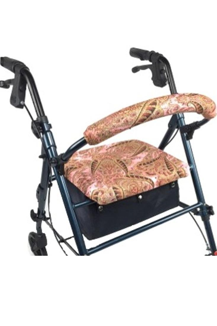 ROLLATOR WALKER COVERS - PINK  PAISLEY