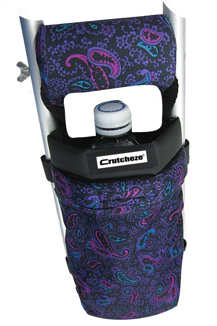 CRUTCH BAG - PINK AND PURPLE PAISLEY - (ea)
