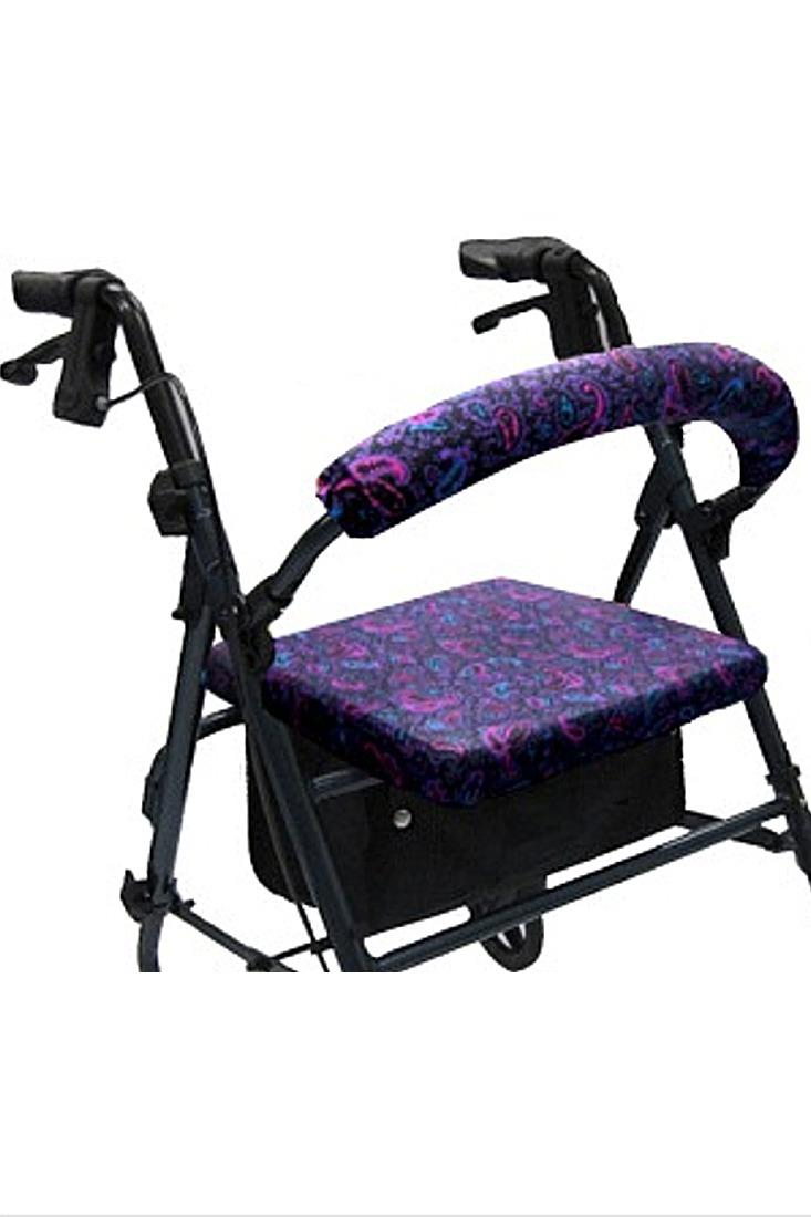 ROLLATOR WALKER COVERS - PINK AND PURPLE PAISLEY