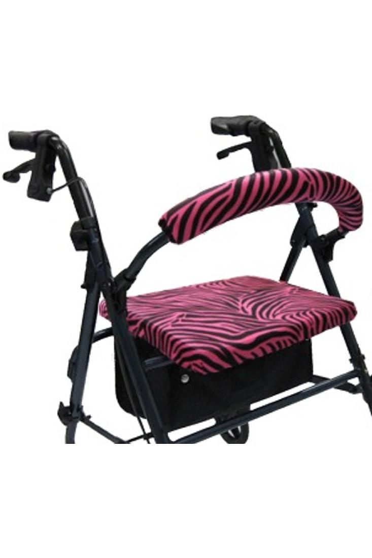ROLLATOR WALKER COVERS - PINK ZEBRA