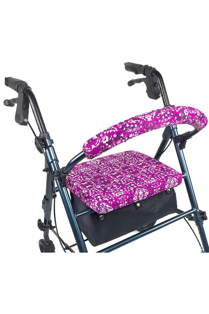 ROLLATOR WALKER COVERS - PURPLE DAMASK