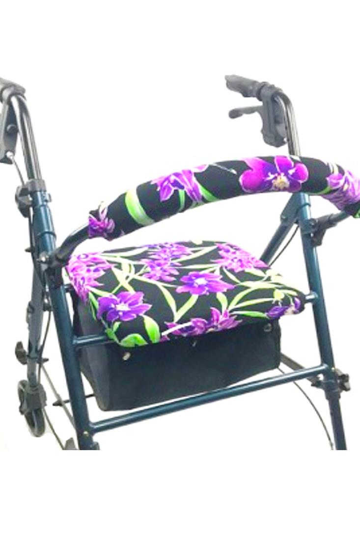 ROLLATOR WALKER COVERS - PURPLE FLOWERS