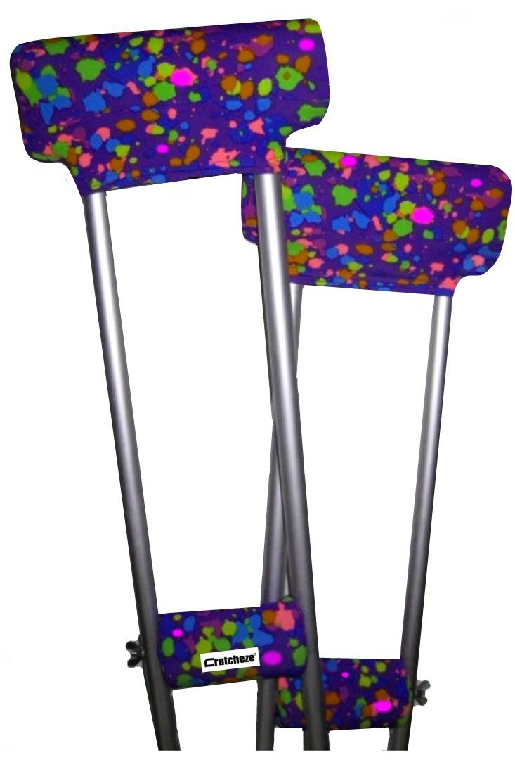 CRUTCH PADDED COVERS - PURPLE SPLATTER