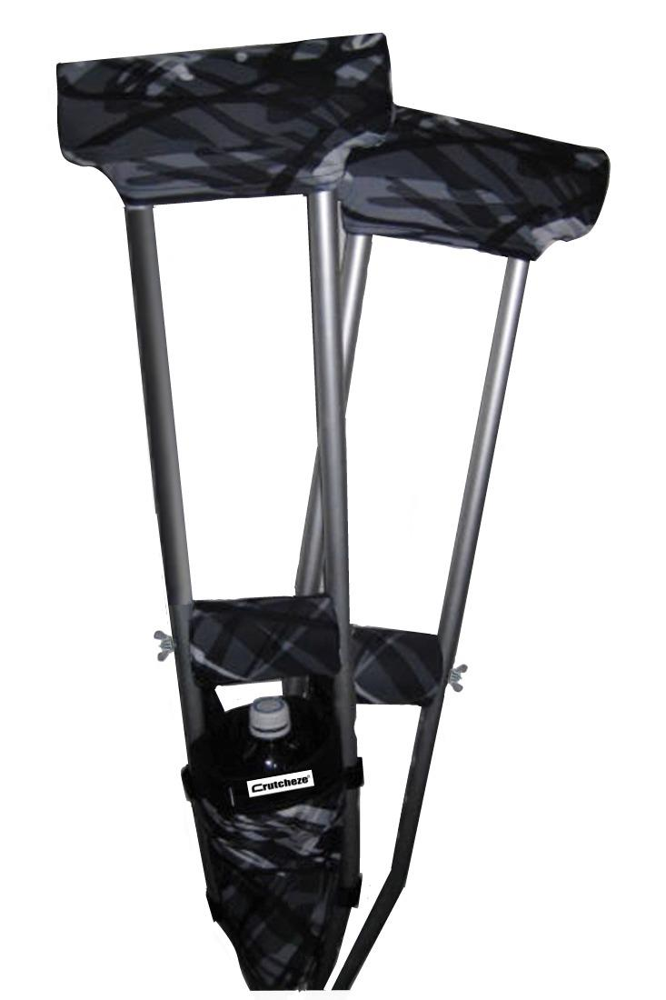 COMBO DEAL - RAD PLAID PADDED CRUTCH COVERS & BAG SET