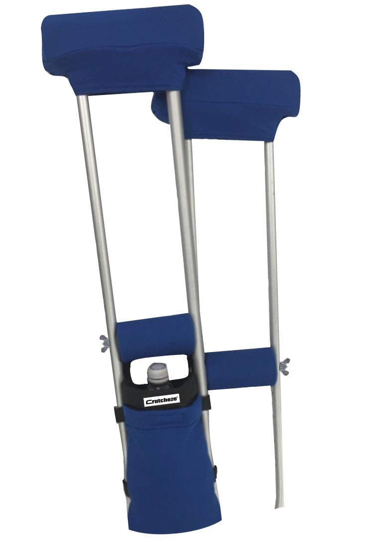 COMBO DEAL - ROYAL BLUE  PADDED CRUTCH COVERS & BAG SET