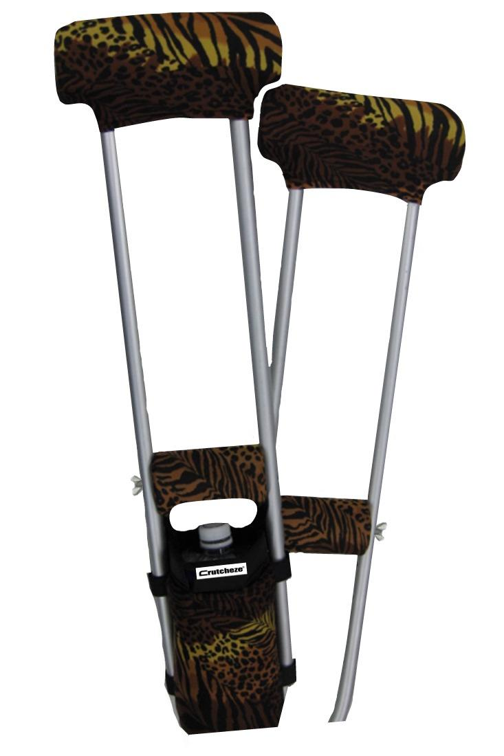 COMBO DEAL - SAFARI CHIC PADDED CRUTCH COVERS & BAG SET