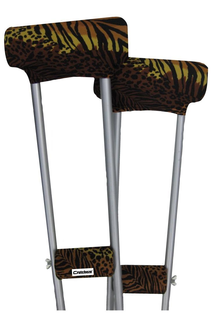 CRUTCH PADDED COVERS - SAFARI CHIC