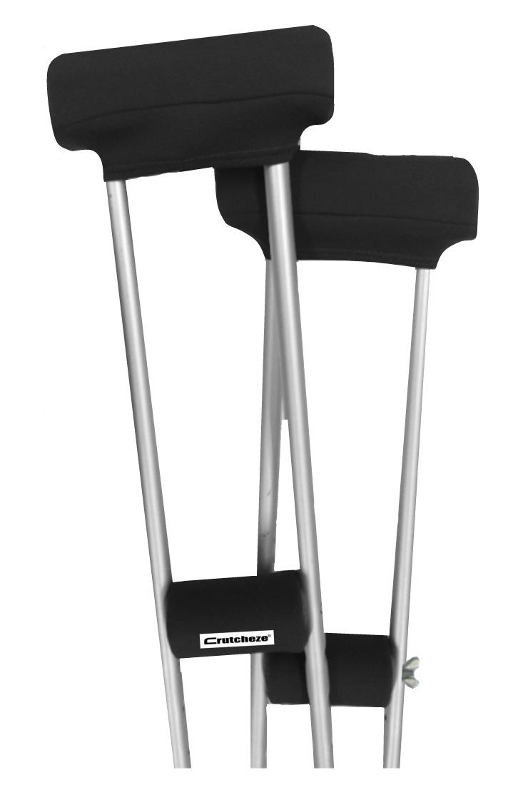 CRUTCH PADDED COVERS - SPORT BLACK