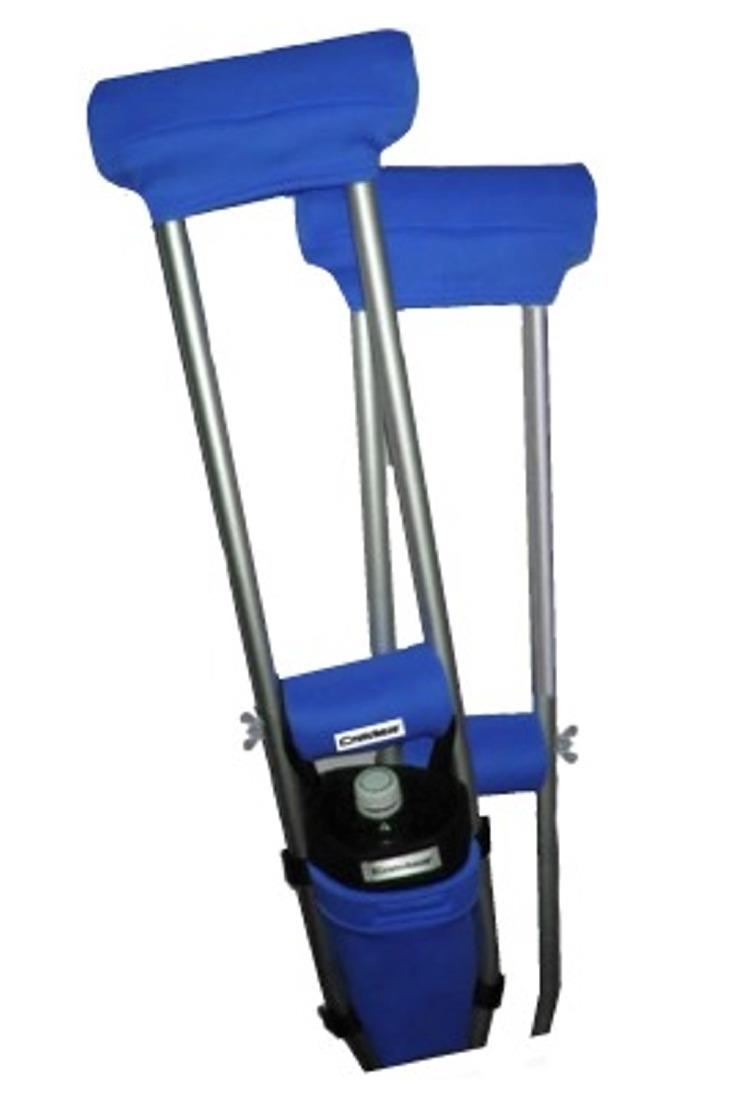 COMBO DEAL - SPORT BLUE PADDED CRUTCH COVERS & BAG SET