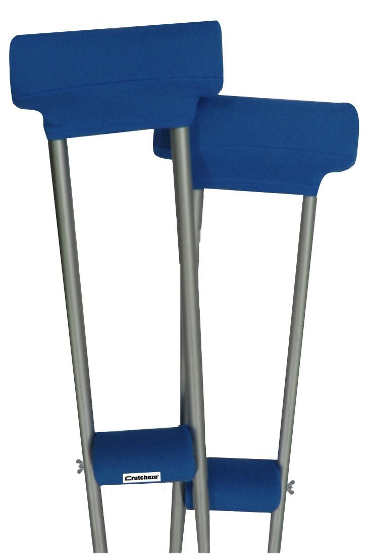 CRUTCH PADDED COVERS - SPORT BLUE