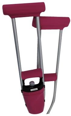 COMBO DEAL - HOT PINK PADDED CRUTCH COVERS & BAG SET