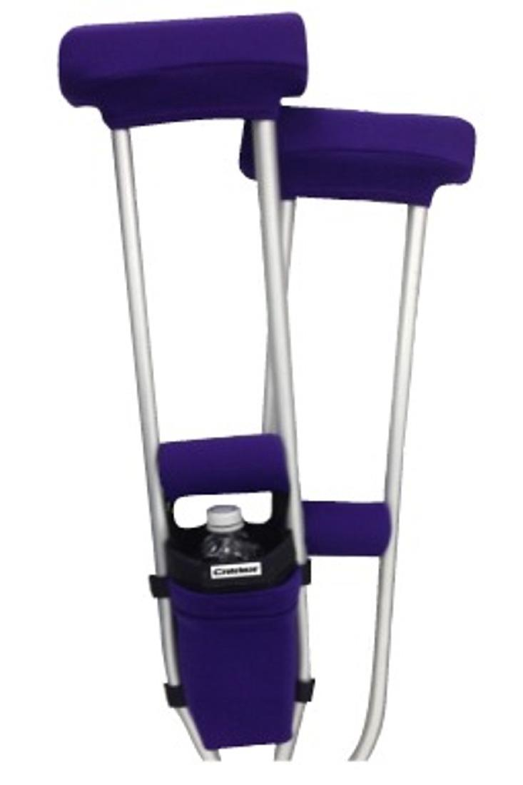 CLEARANCE COMBO DEAL - PURPLE PADDED CRUTCH COVERS & BAG SET