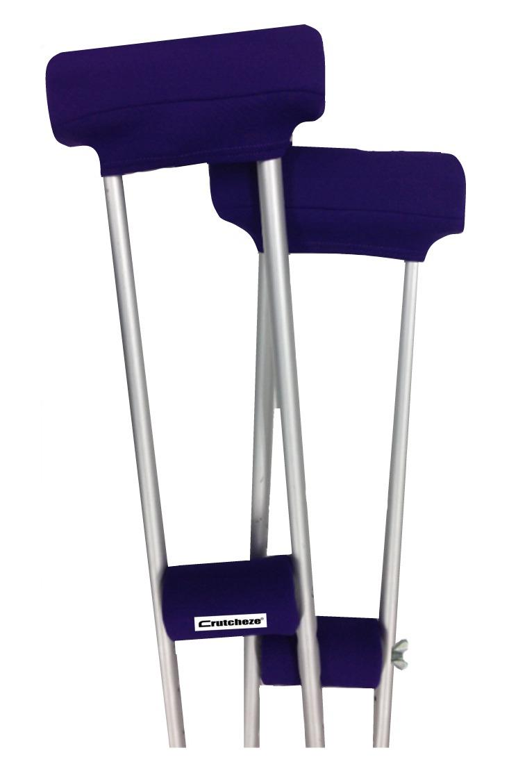 CLEARANCE CRUTCH PADDED COVERS - PURPLE