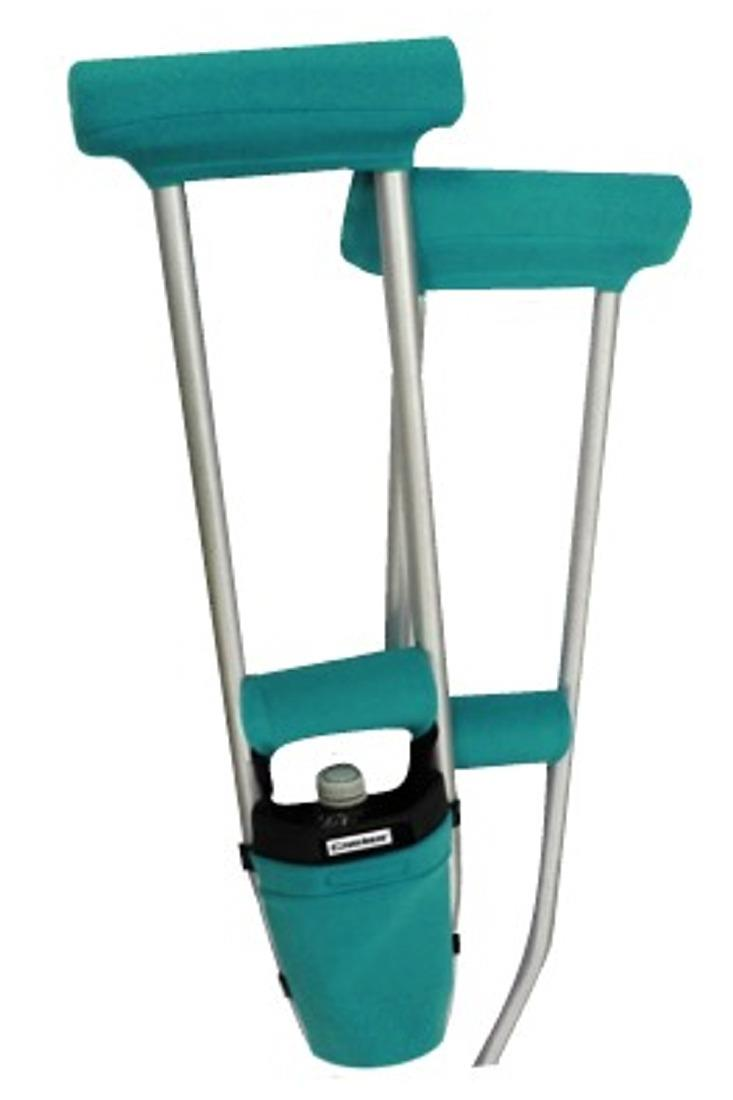 CLEARANCE COMBO DEAL - TEAL PADDED CRUTCH COVERS & BAG SET