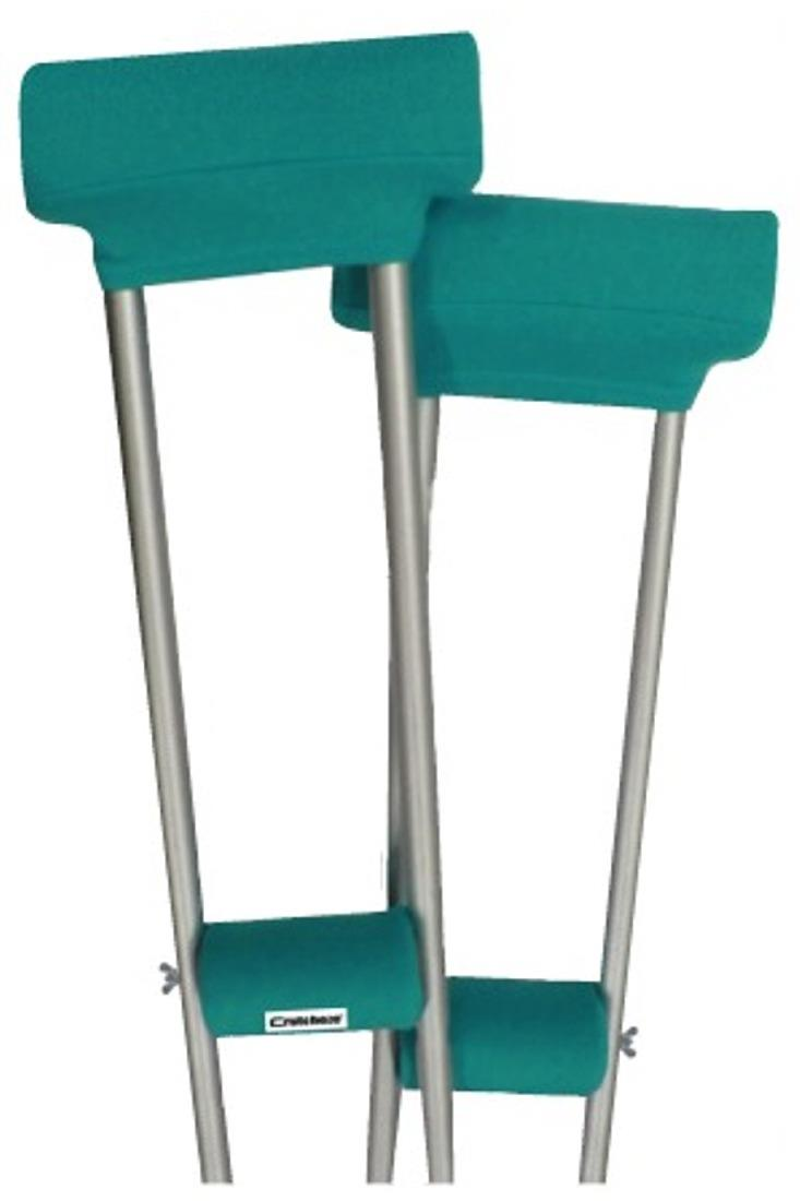 CLEARANCE CRUTCH PADDED COVERS - TEAL