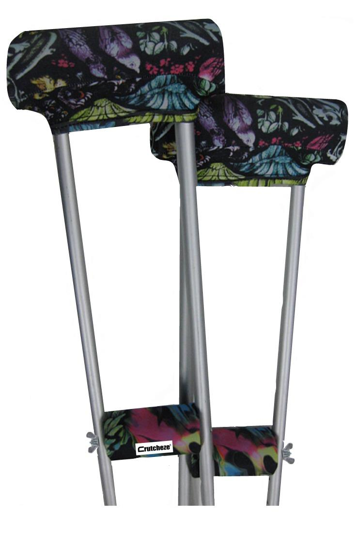 CRUTCH PADDED COVERS - STAINED GLASS
