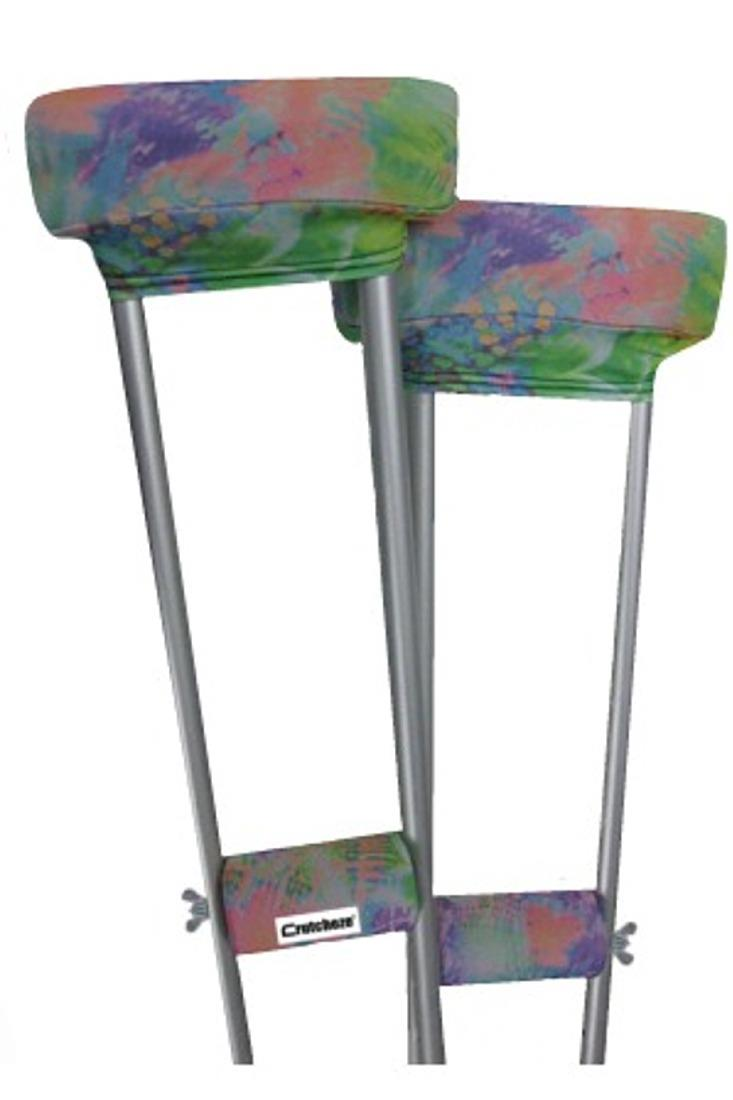 CRUTCH PADDED COVERS - TIE DYE FLORAL