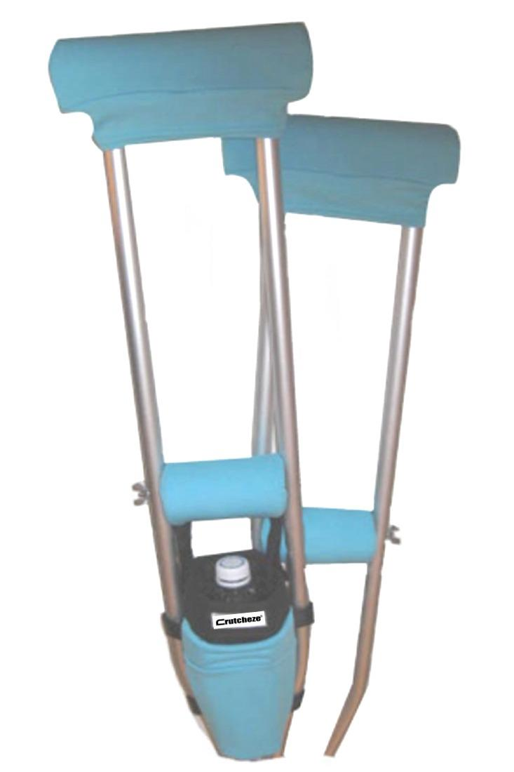 COMBO DEAL - TURQUOISE PADDED CRUTCH COVERS & BAG SET