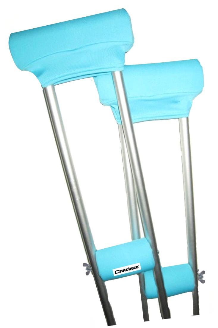 CRUTCH PADDED COVERS - TURQUOISE