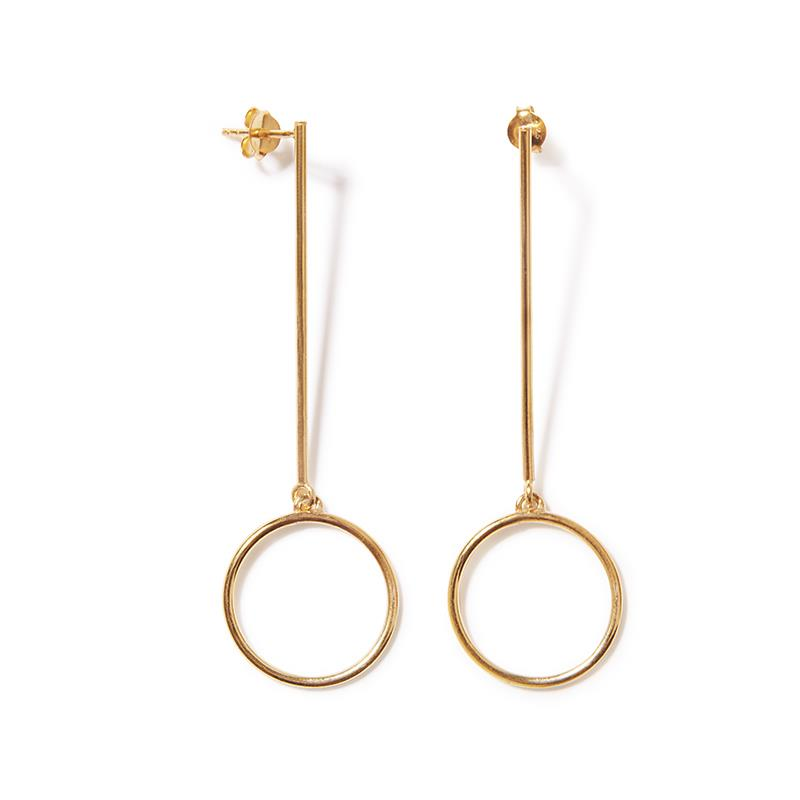 The Gold Circle Earring