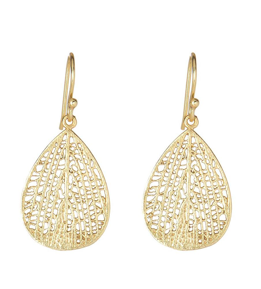 The Gold Lined Tear Drop Earring