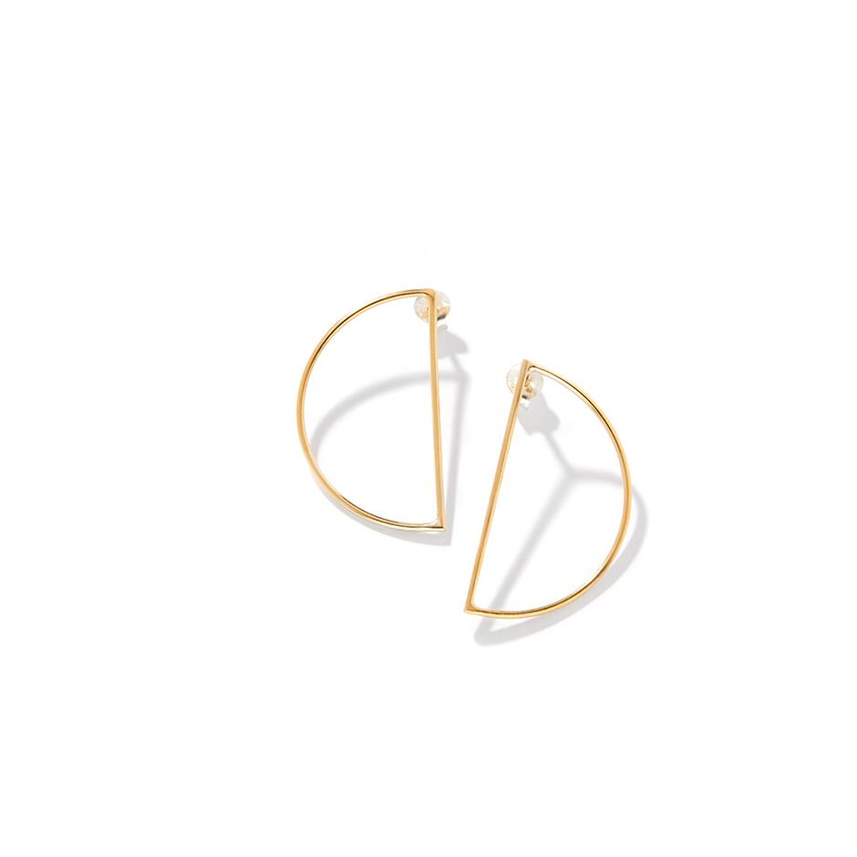 The Gold Luna Hoops Studs