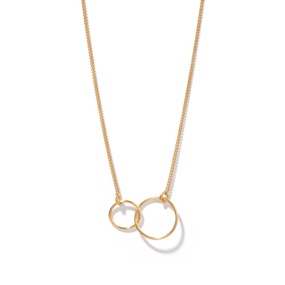 The Rose Gold Linked Circle Necklace