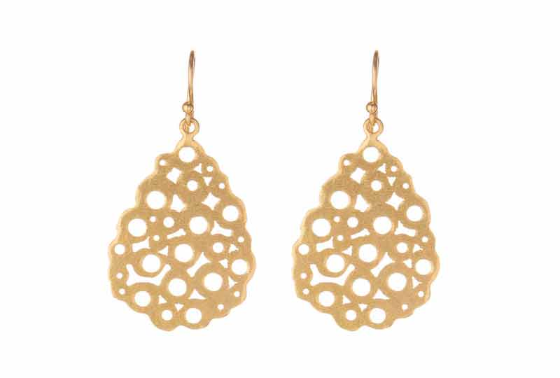 The Gold Cutwork Earring